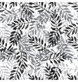 Ethnic doted leaves mix seamless pattern vector image vector image