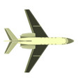 aircraft airplane plane icon isolated color air vector image