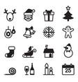 basic christmas icons set vector image