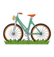 bicycle vehicle with grass vector image