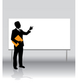 businessman board vector image