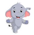 cute elephants cartoon vector image