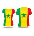 Flag shirt design of Senegal vector image