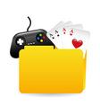 folder games vector image
