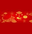 happy new year 2018chinese new year greetings vector image