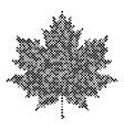 Maple leaf isolated halftone design Background vector image