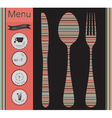 Menu labels set vector image