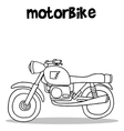 Motorbike art collection vector image