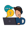 online customer service vector image