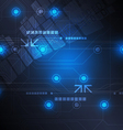 technology background design vector image