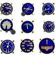 Various Aircraft Gauges vector image