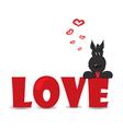 Dog loving vector image