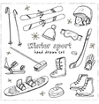 Winter Fun Sports Activities and Accessories Hand vector image