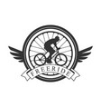 freeride vintage label black and white vector image