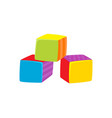 cubes toy flat isolated vector image