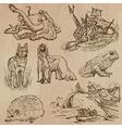 Animals around the World part 18 Hand drawn pack vector image