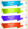 set of abstract origami tag labels vector image