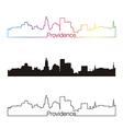 Providence skyline linear style with rainbow vector image