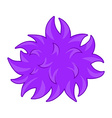 Purple fluffy ball bacteria vector image