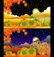 autumn landscapes vector image vector image
