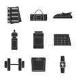 Icons set of fitness sport vector image