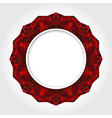 Abstract White Round Frame with Red Digital Border vector image