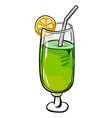 cartoon image of cocktail icon glass symbol vector image