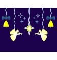 Christmas background with star angels vector image