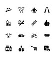 health - flat icons vector image