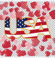 presidents day us inscription on the translucent vector image