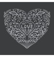 Romantic Background with a Heart vector image