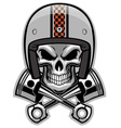 Skull and crossed piston vector image