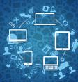 Wireless information fransfer scheme vector image