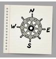 Doodle steering control-compass sketch concept vector image vector image