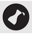 information icon - flask with a drop vector image