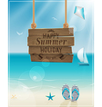 beach sign vector image vector image