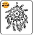 American Indian dreamcatcher of shaman vector image