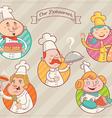 Restaurant dream team vector image