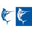 Marlin Fish Symbol vector image vector image