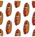 Smiling hot dog seamless pattern vector image vector image