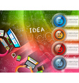 Infographic layout template with 4 choices and vector image