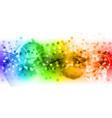 rainbow abstract vector image