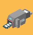 Printing machine isometric design vector image