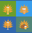 beer glasses with wheat vector image