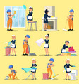 cleaning company icons collection vector image