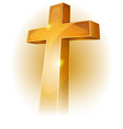 gold christian cross vector image