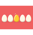 Golden egg among the usual vector image
