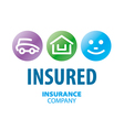 logo for life insurance car and real estate vector image