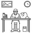 man working vector image