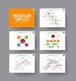 presentation slides with infographic elements vector image